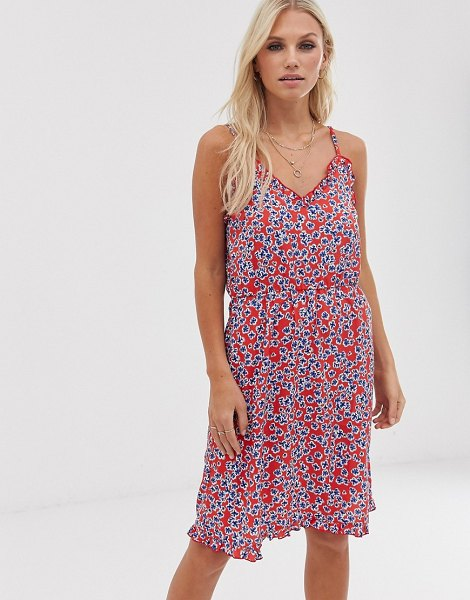 Vero Moda floral cami skater dress in redfloral
