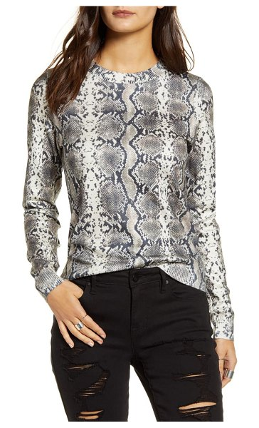 Vero Moda snake print sweater in snow white