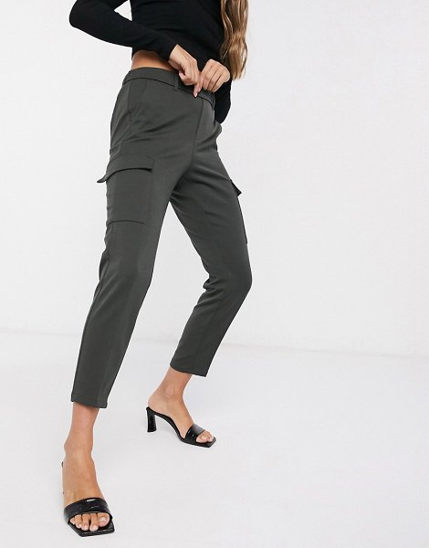 Vero Moda tapered cargo pants in khaki-green in green