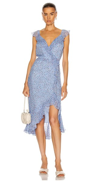 Veronica Beard amal dress in blue multi
