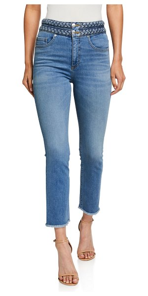 Veronica Beard Carly Braided Kick Flare Jeans in grotto