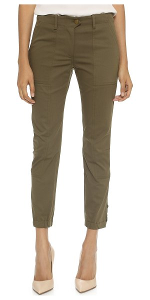 Veronica Beard field cargo pants in army green
