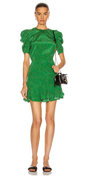 Veronica Beard lila dress in green multi