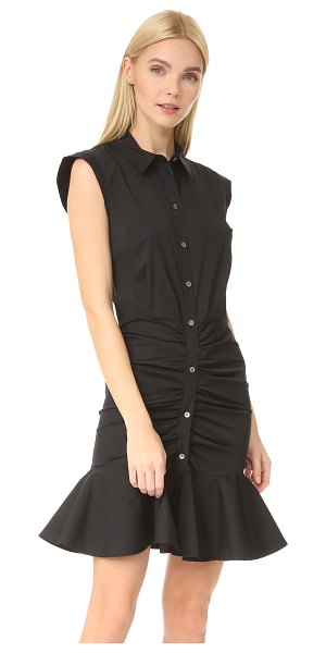 Veronica Beard ruched shirtdress in black