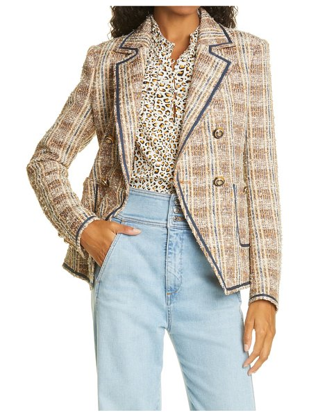 Veronica Beard theron tweed jacket in brown multi
