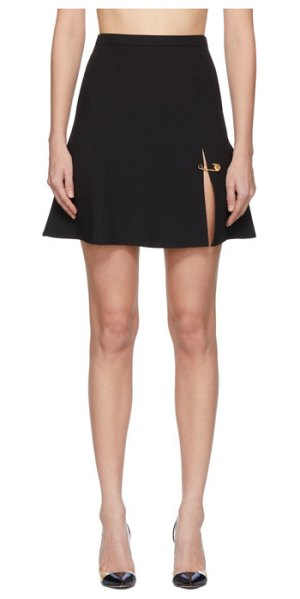 VERSACE black safety pin miniskirt in a1008 black