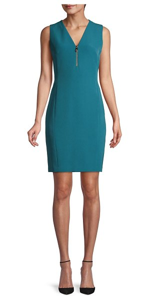 Versace Collection Sleeveless Sheath Dress in teal