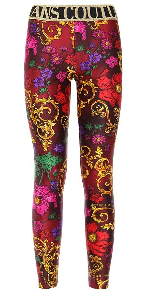 VERSACE JEANS COUTURE Printed stretch jersey leggings in red,multi