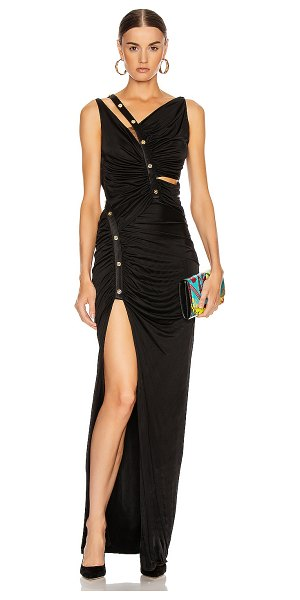 VERSACE long evening gown in black
