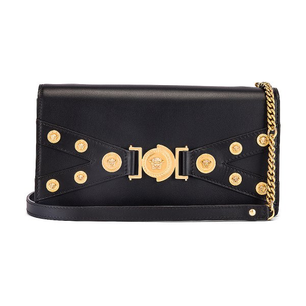 VERSACE tribute shoulder bag in black & gold