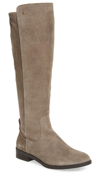 Very Volatile anchor knee high boot in stone leather