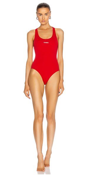VETEMENTS one piece swimsuit in red