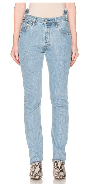 VETEMENTS Season 2 Hi Waisted Jeans - 100% cotton.  Made in France.  Button fly.  Patchwork...