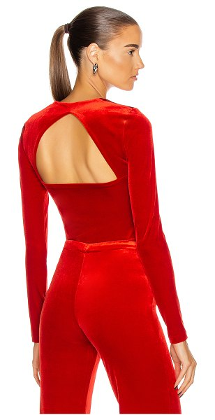VETEMENTS square neckline styling top in red