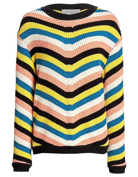 Victor Glemaud striped chunky-knit sweater in neutral