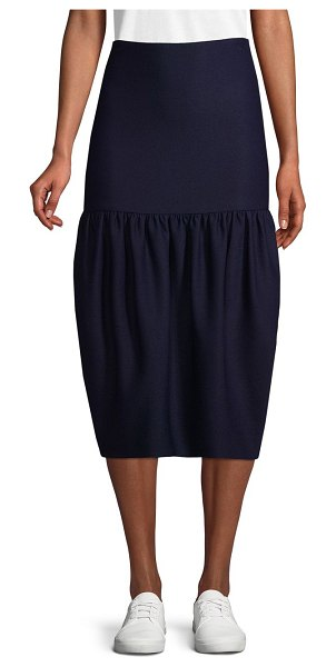 Victoria Beckham Drop Waist Skirt in navy