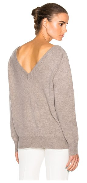 VICTORIA BECKHAM Felted Lambswool Double V Neck Jumper - 100% wool.  Made in Italy.  Dry clean only.  Knit...