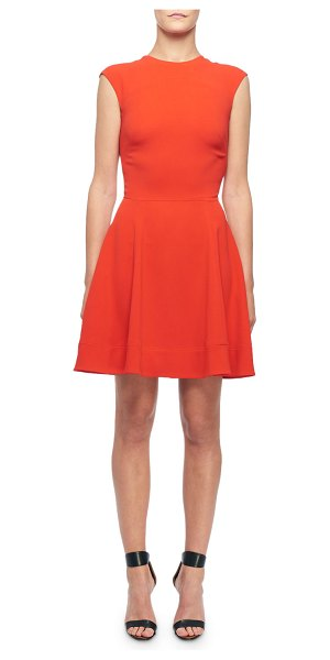 Victoria Beckham Sleeveless Fit & Flare Dress in red