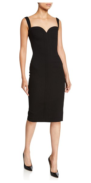 Victoria Beckham Sweetheart Bodycon Midi Dress in black