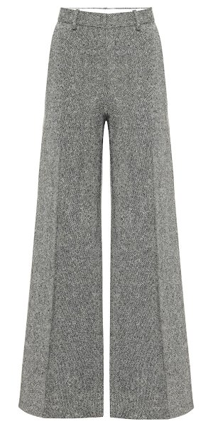 Victoria Beckham tweed wool wide-leg pants in multicoloured