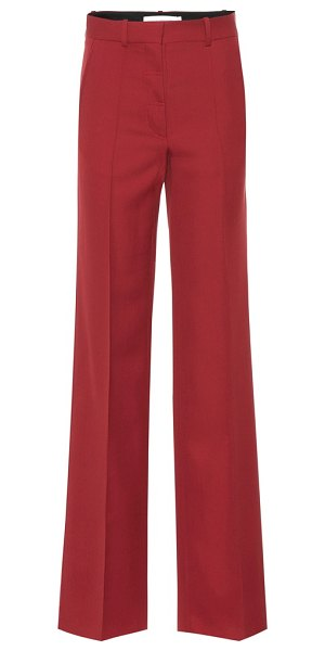 Victoria Beckham wool wide-leg pants in red