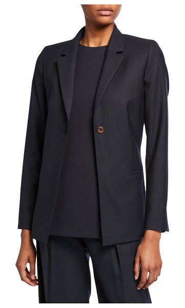 Victoria by Victoria Beckham Bow-Back Tailored Jacket in dark blue