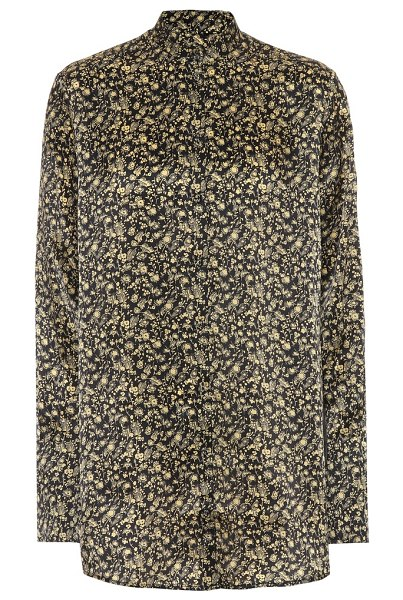 Victoria by Victoria Beckham printed shirt in gold