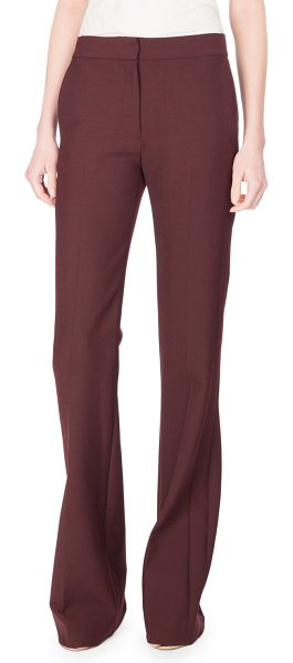 "Victoria by Victoria Beckham Victoria Paneled Boot-Cut Pants in red - Victoria Victoria Beckham ""Victoria"" pants. Side slip..."