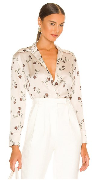 Vince autumnal rose shaped collar blouse in dark ivory