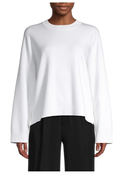 Vince Boxy Sweater in optic white