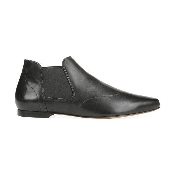 Vince camrose leather chelsea boots in black