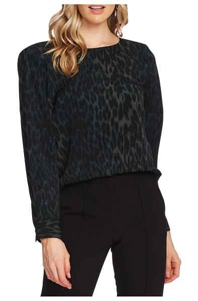 Vince Camuto animal print blouse in dk willow