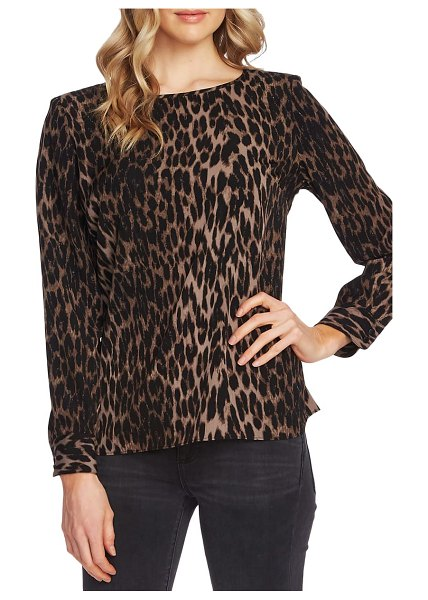 Vince Camuto animal print blouse in rich black