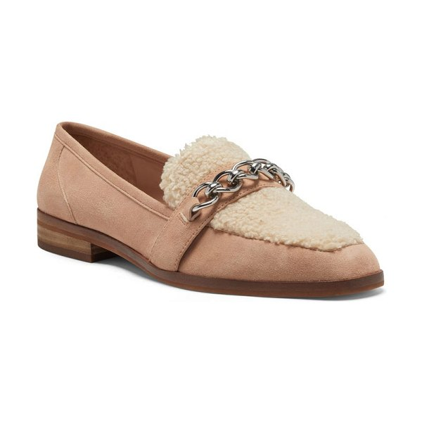 Vince Camuto breenan faux fur loafer in light brown