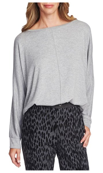 Vince Camuto cozy dolman sleeve top in silver heather