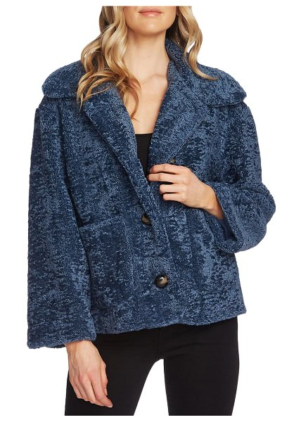 Vince Camuto crop faux fur jacket in waterscape