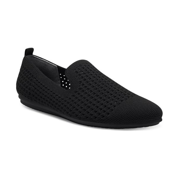 Vince Camuto fabeau knit flat in black/black