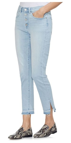 Vince Camuto high waist button fly skinny ankle jeans in ocean breeze
