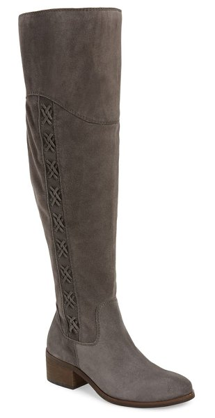Vince Camuto kreesell knee high boot in graystone suede