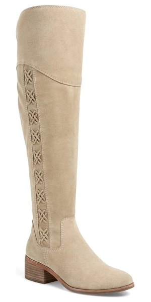 Vince Camuto kreesell knee high boot in taupe notch suede