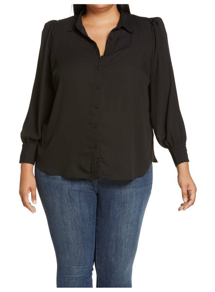Vince Camuto long sleeve button-up shirt in rich black