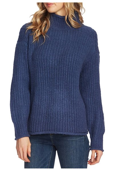 Vince Camuto mock neck sweater in cool dusk