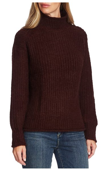 Vince Camuto mock neck sweater in port
