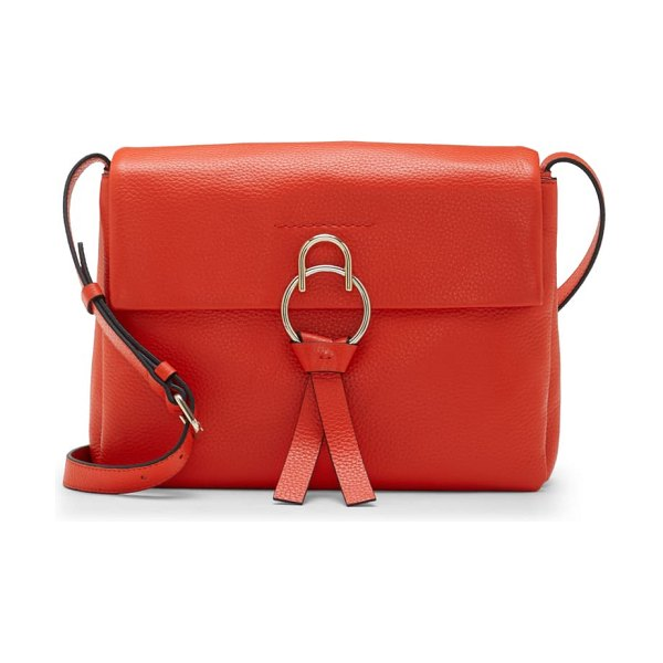 Vince Camuto plum leather shoulder bag in fire opal