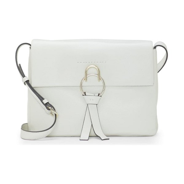 Vince Camuto plum leather shoulder bag in snow white
