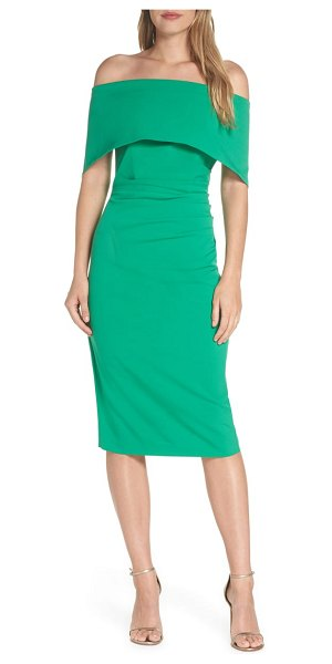 Vince Camuto popover dress in green