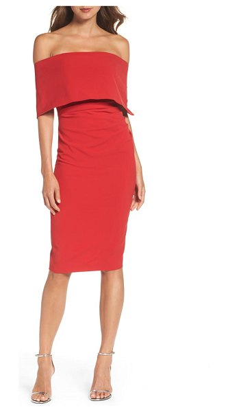 Vince Camuto popover dress in red