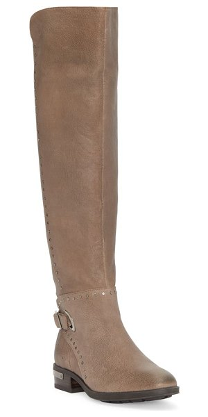 Vince Camuto poppidal knee high riding boot in ethereal grey leather