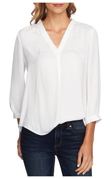Vince Camuto rumple fabric blouse in new ivory