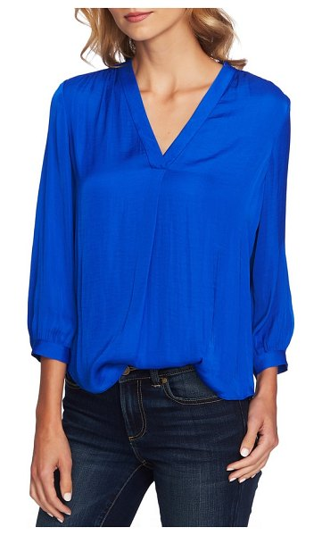 Vince Camuto rumple fabric blouse in rapture blue